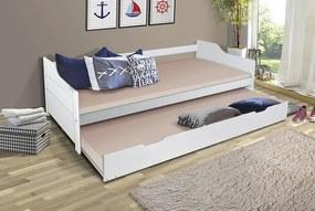 MG Detská posteľ Basty 200x90 s prístelkou Farba: Čierna
