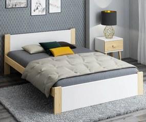 AMI nábytok Postel DMD3 120x200cm borovice + bílá