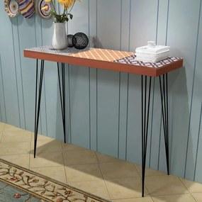 vidaXL Prístavný stolík, 90x30x71,5 cm, hnedý