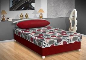 Nabytekmorava Čalúnená posteľ s úložným priestorom Katy Barva: bordó