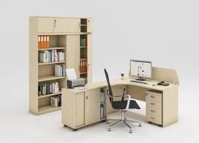 Zostava kancelárskeho nábytku MIRELLI A+, typ C, breza