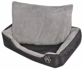Pelech pre psov s polstrovaným vankúšom, veľkosť XXXL, čierny