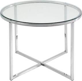 Biely odkladací stolík Actona Cross, ⌀ 55 cm