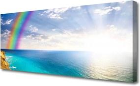 Obraz Canvas Dúha u More Krajina