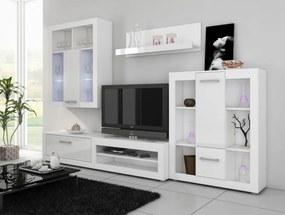 WIP VIKI LESK biely/biely lesk obývacia stena
