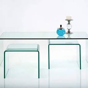 KARE DESIGN Konferenčný stolík Clear Club (3 / Set)