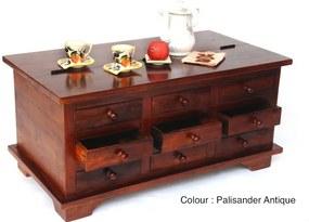 Furniture-nabytok.sk - Masívna truhlica s 9 zásuvkami - Aiswarya