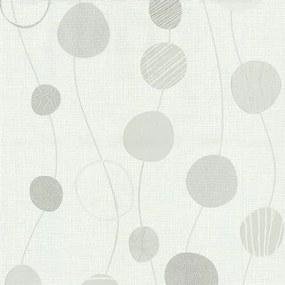Vliesová tapeta, kolieska sivé, Novara 1346510, P+S International, rozmer 10,05 m x 0,53 m