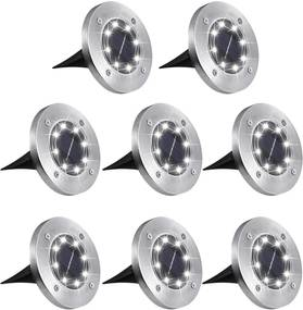Bezdoteku LEDsolar 8Z vonkajšie svetlo k zapichnutie do zeme 8 ks, 8 LED, bezdrôtové, IPRO, 1W, studená            farba