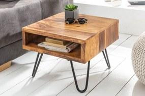 Odkladací retro stolík Shayla, 45 cm, sheesham
