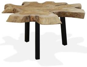 vidaXL Konferenčný stolík, pravé teakové drevo, 80x70x38 cm