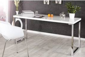 PC - stolík 21141 140x60cm Biely vysoký lesk-Komfort-nábytok