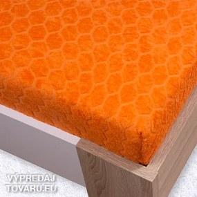 Oranžová 100x200cm žakar plachta