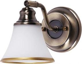 Rábalux Grando 6545 Nástenné Lampy bronz biely E14 R50 1x MAX 40W 110 x 125 mm