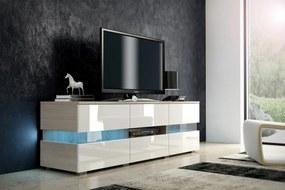 MEBLOCROSS Inter tv stolík dub sonoma / biela