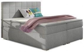 Hector Čalouněná kontinentální postel boxspring Alice 160x200 cm světle šedá