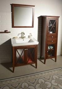 SAPHO - Kúpeľňový set CROSS 75, mahagón (KSET-014)