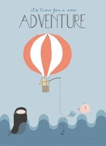 OYOY Detský plagát Balloon 50x70 cm
