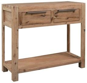 vidaXL Konzolový stolík 82x33x73 cm, akáciový masív