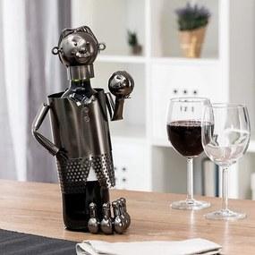 Kovový stojan na víno kolkár