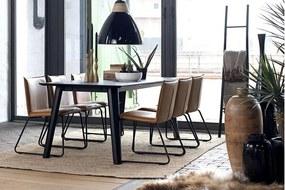 Dizajnová jedálenská stolička Edith / koňaková