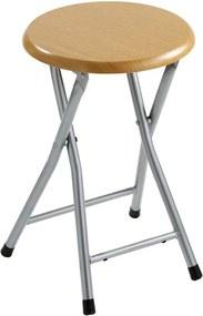 Sapho CO73 kúpeľňová stolička, priemer 29,8x46 cm, dekor drevo