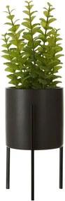 Umelá kvetina tymiánu v čiernom keramickom kvetináči Premier Housewares Fiori
