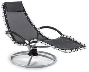 The Chiller, hojdacie ležadlo, 77 x 85 x 173 cm, 360 Comfort, ComfortMesh, čierne