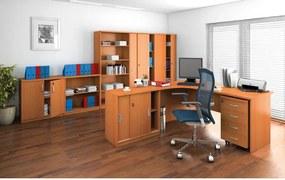 Písací stôl ergonomický pravý, orech
