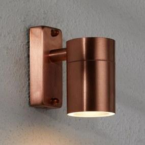 Moderné medené vonkajšie nástenné svietidlo Tin