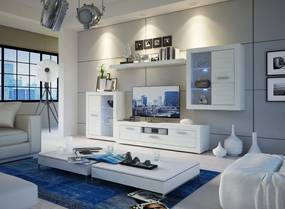 Biela obývacia stena MATIX PLUS