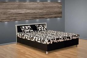 Čalúnená posteľ s úložným priestorom Sabina Barva: černá