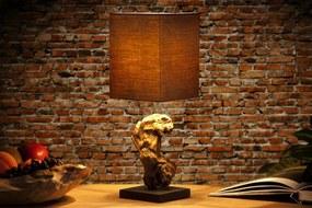 Stolná lampa vyrobená z masívneho dreva Hypnotic hnedá