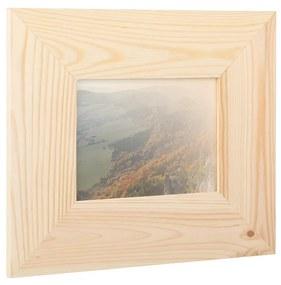 ČistéDrevo Drevený fotorámik na stenu 29.5 x 25 cm