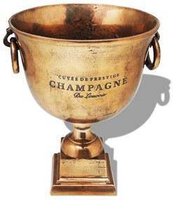 vidaXL Hnedá chladiaca nádoba na šampanské v tvare víťazného pohára, meď
