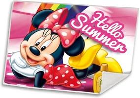 EUROSWAN Detský uteráčik Minnie Summer Polyester, 30/40 cm