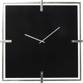 Čierne pochrómované nástenné hodiny Kare Design Black Mamba