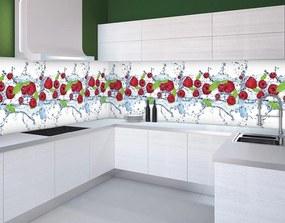 Fototapeta na kuchynskú linku Malina vlies 250 x 43 cm