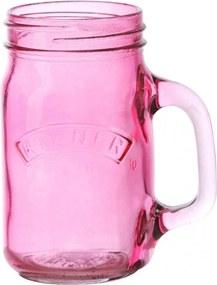 KILNER Pohár s uchom Pink 400 ml