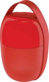 Desiatový box s 2 priehradkami, červený - Alessi