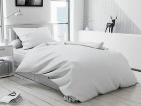 Krepové obliečky LUX Biele gombíky Rozmer obliečok: 2 ks 70 x 90 cm, 200 x 220 cm