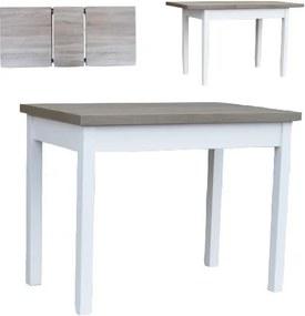 Kvalitný rozkladací jedálenský stôl 100 x 60 cm - - Dub bílý Monako