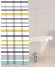 Sprchový záves Sabichi Sea Stripe, 180 x 180 cm