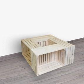 ČistéDrevo Drevené debničky - konferenčný stolík 84x39x84 cm