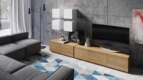 Malá obývacia stena Virgo biela/zlatý dub