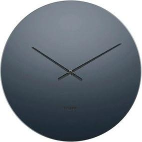 KARLSSON Nástenné šedé zrkadlové hodiny Mirage