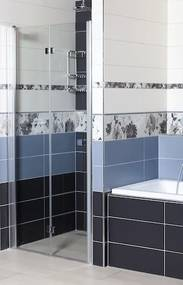 Sprchové dvere Siko SK skladací 80 cm, sklo číre, chróm profil, univerzálny SIKOSK80