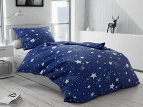 Bavlnené obliečky Nočná obloha tmavo modrá