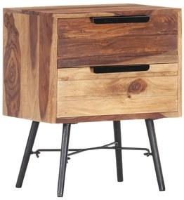 vidaXL Nočný stolík 40x30x50 cm sheeshamový masív