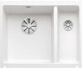 BLANCO Subline 350/150-U, krištáľovo biela